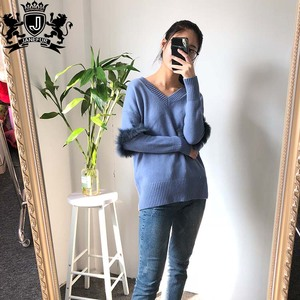 Fashion Design Cheap Price Women Knitted Wool Suit True Grit Pullover Oversize Sweater