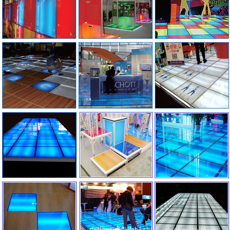 Exhibition Stand Raised Floor : Exhibition raised floor can be reused led lighting trade