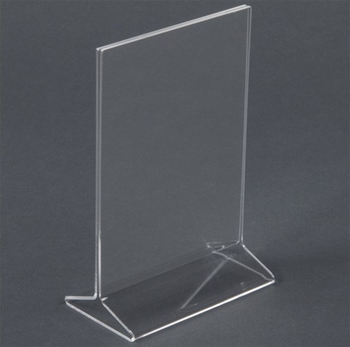 T Clear Acrylic Table Tent Card HolderMenu Display Stand Buy - Table tent stands