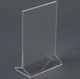 T10 Clear Acrylic Table Tent Card Holder,Menu Display Stand
