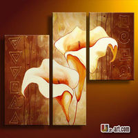 Modern home decoration group flower oil painting