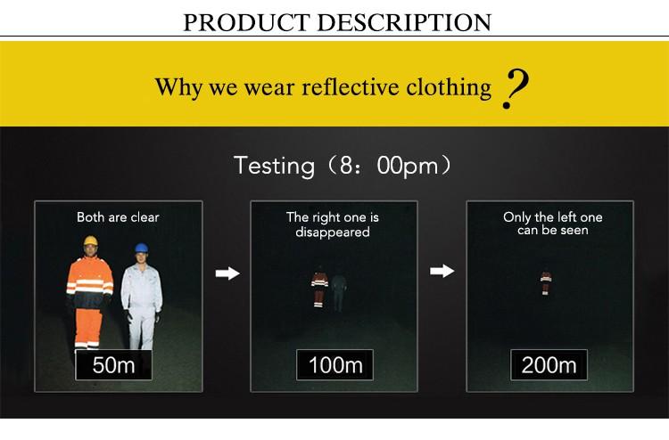 Hi Vis Long Sleeve reflective Safety Work-wear men's polo Shirt