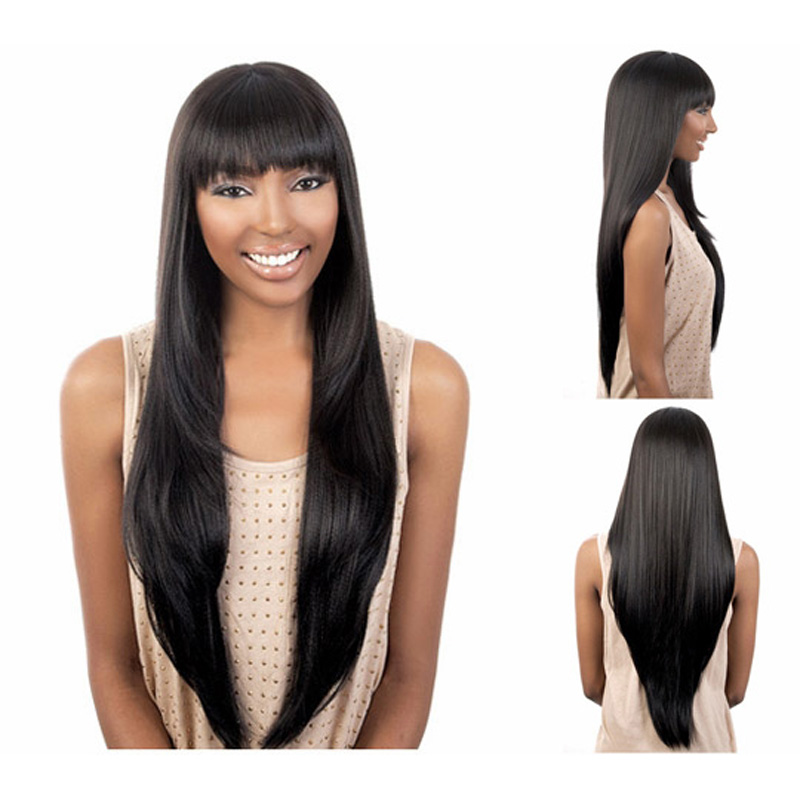 Buy Medusa hair products: Afro long layered straight haircuts black ...