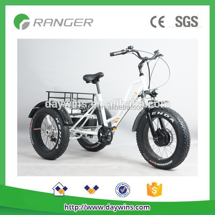 2017 new model 48v 500w fat tire electric bicycle, italian 3 wheels electric mountain bike with TUV certificate