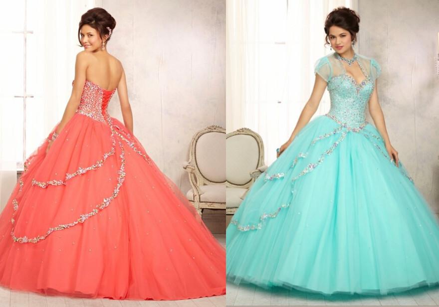 Quinceanera Dresses 2014 Mint Coral Quinceanera Dresses
