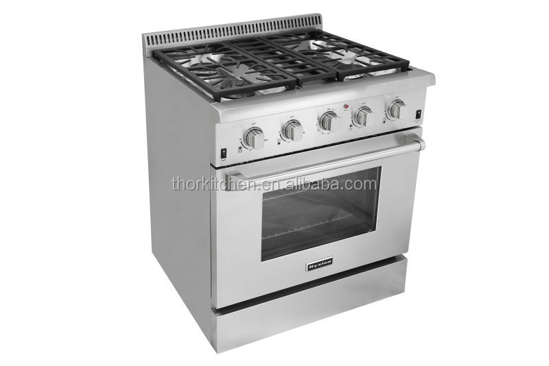 30 Inch Commercial Gas Range Definition With Blue Porcelain Oven ...