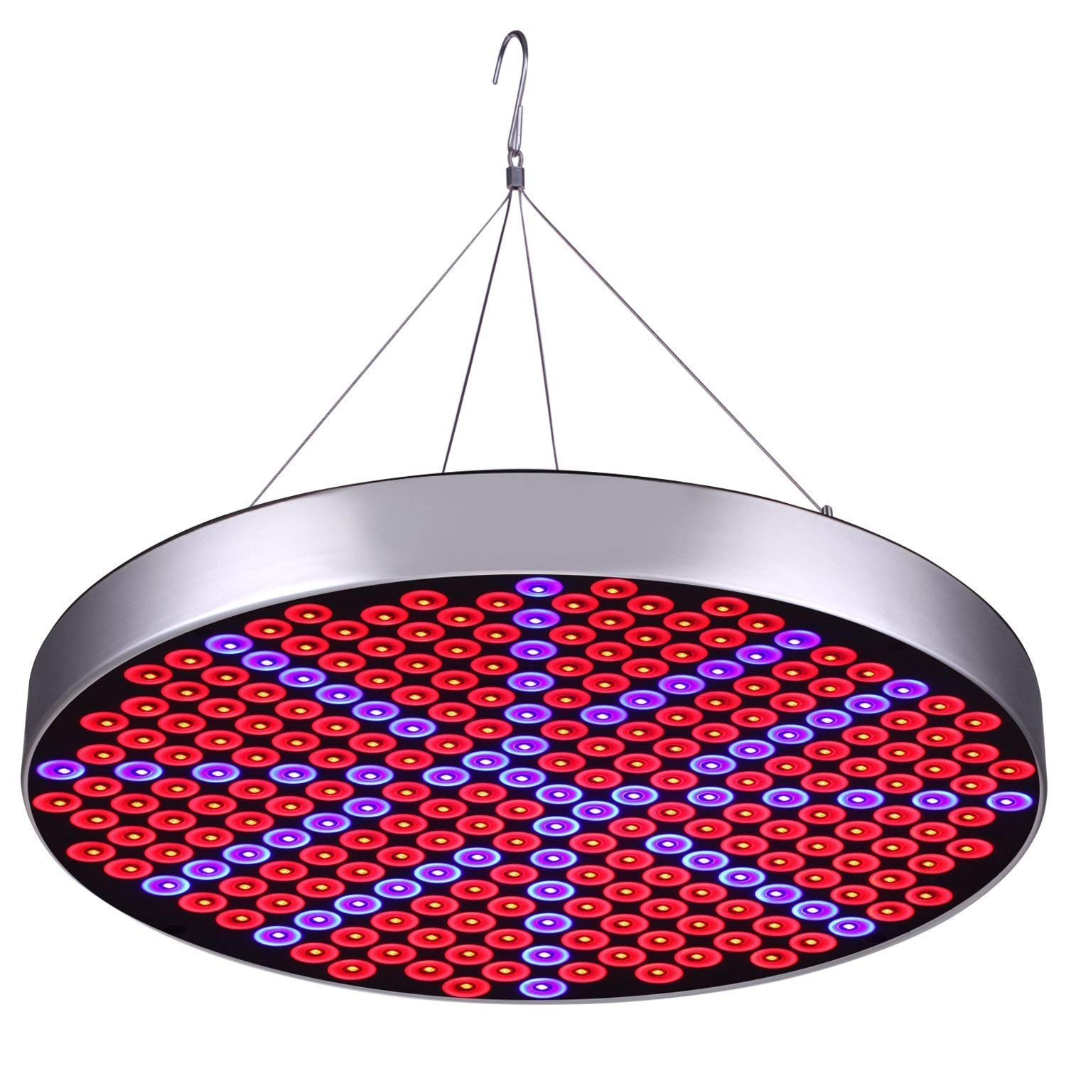 SODIAL LED Grow Light Bulb Panel 50W UFO Plant Growing Lamp with 250 LEDs Red Blue UV IR Full Spectrum Growing Lights for Indoor Plants, ed Starting, edling, Veg and Flower by Emasun (US Plug)