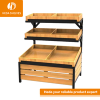 Stainless Steel 3-tier wall mounted Vegetable Rack For Store By Heda Supermarket Equipments