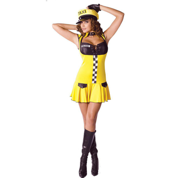 Adult funny yellow sexy yellow color tight girl halloween costume