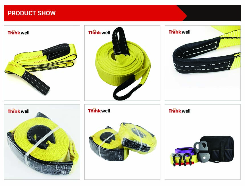 Custom Off Road Towing Belt Heavy Duty Towing Recovery Tow Strap