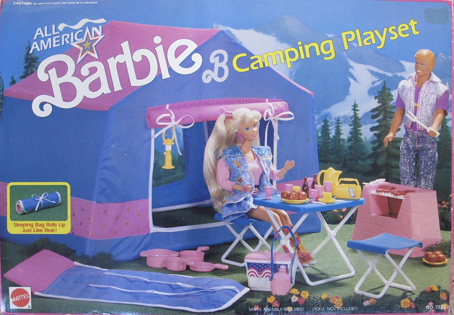 1990 All American BARBIE CAMPING Playset NO 7223 MATTEL PARTS