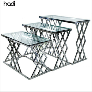 Aladdin food service products commercial silver hotel buffet table antique glass tables for wedding
