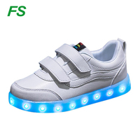 Fashion Led kids shoes, popular led child shoes, hi top kids led shoes
