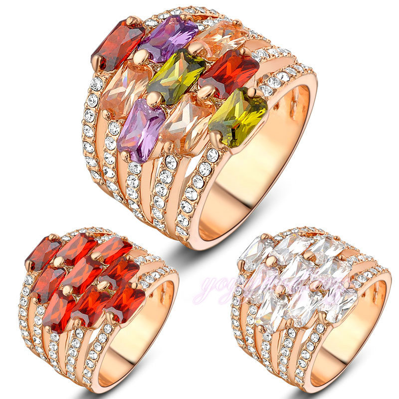 lucky 2016 jewelry different colors stones kundan ring designs