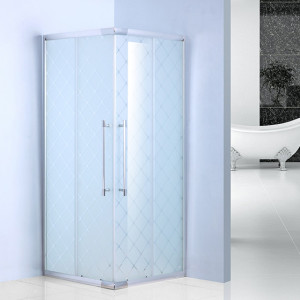 bathroom shower stall 6mm glass 6512FB frost glass shower enclosure