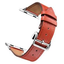 Роскошный ремешок для Apple Watch 38 мм 40 мм 42 мм 44 мм ремешок из натуральной кожи складной браслет с пряжкой ремешок для iWatch серии 1 2 3 4(Китай)