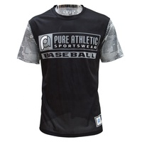 PURE Custom Wholesale Gym Fitted Sports Clothing Print machine Men's T Shirt logo