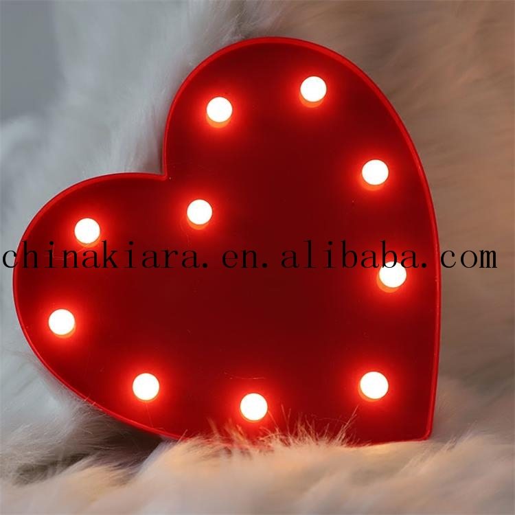 Wedding Decoration Battery Operated 3D Letter Heart Sign