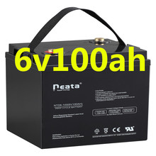 Neata High performance 6v 100ah lead acid gel solar battery for supply