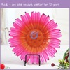 KA739 Plastic Clear Sunflower Shaped Charger Plates Dinnerware for Wedding
