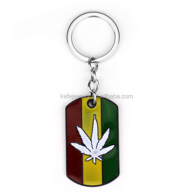 Canadian Flag Metal Tag Key chain for Souvenirs
