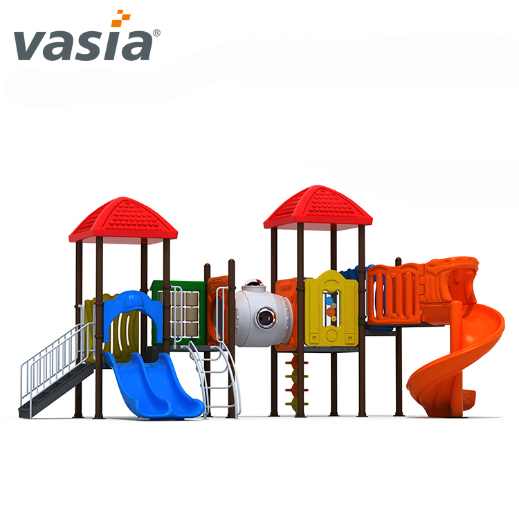 Top children outdoor playground tunnel slides playground stainless steel slides playground slide