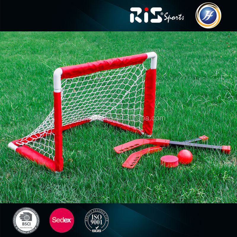 PVC frame hockey goal for kids