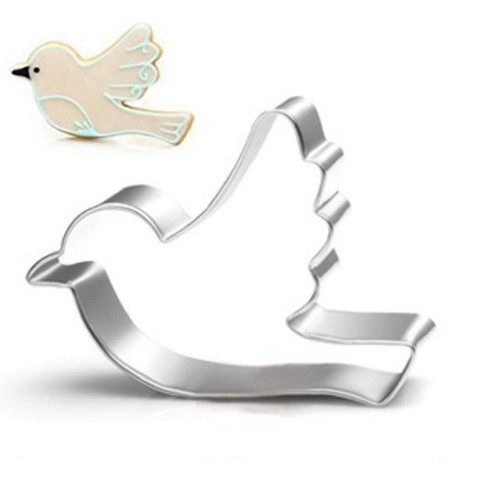 Hot selling Amazon stainless steel animal shapes mini bird cookie cutter metal