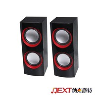 Home theatre system 12W stereo AC and DC USB desk speaker with Good Bass Subwoofer
