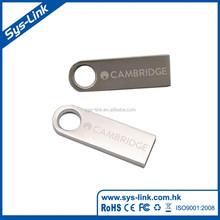 Top sale in china 2017 fashion silver mini metal keychain otg usb flash drive
