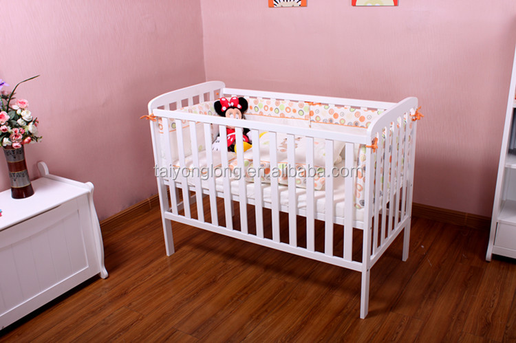Baby sleigh bed cribs/bed extender for baby/wooden baby crib