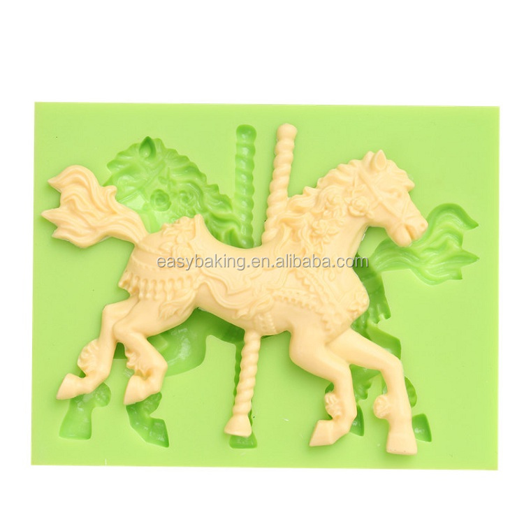 ES-0036 Animal Mould Mini Horse Right Facing Fondant Silicone Molds for cake decorating.jpg
