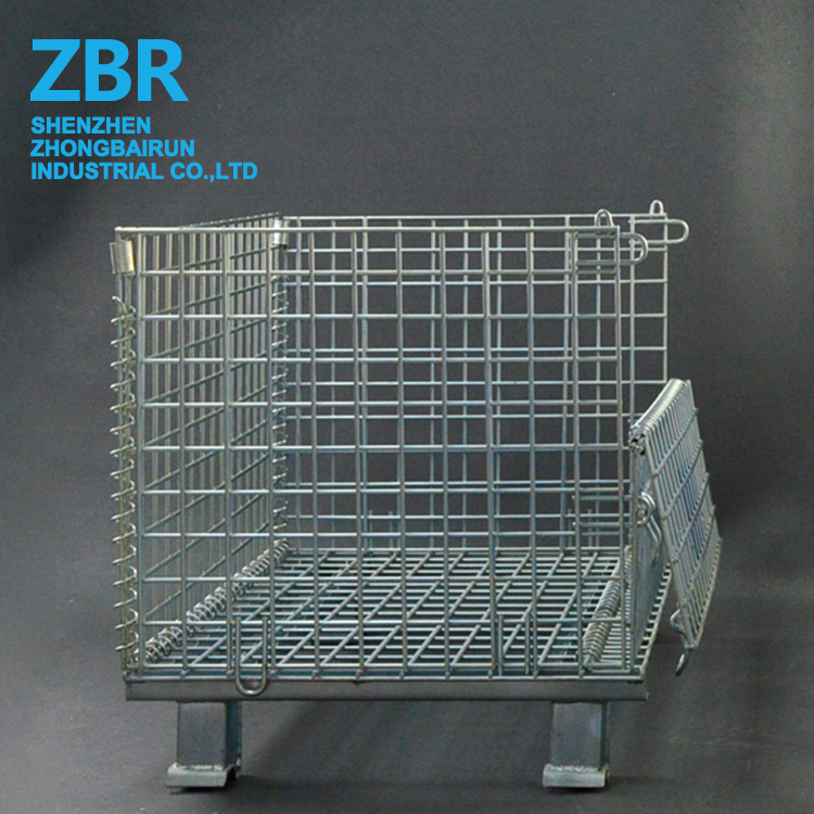 Warehouse Foldable Metal Steel Wire Mesh Pallet Cage
