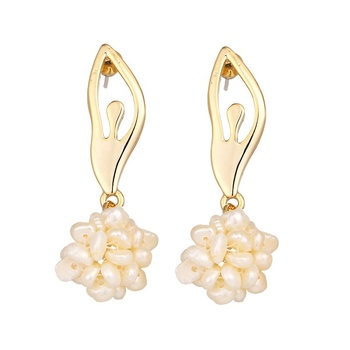 Korea Fresh Water Pearl Ballet Girl Earring