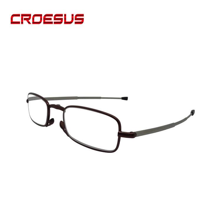 도매 블랙 최적의 광학 미니 독서 안경 접이식 독서 안경 케이스
