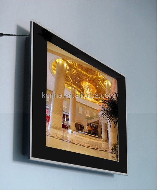 32 inch Wall mounted advertising digital signage monitor with wifi and network.