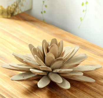 Fashion Handmade Wood Crafts Lotus Flower Custom Creative Gifts