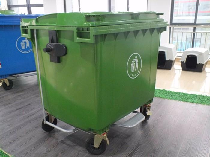 Large Plastic Waste Bins With Wheels Mobile Trash Bin
