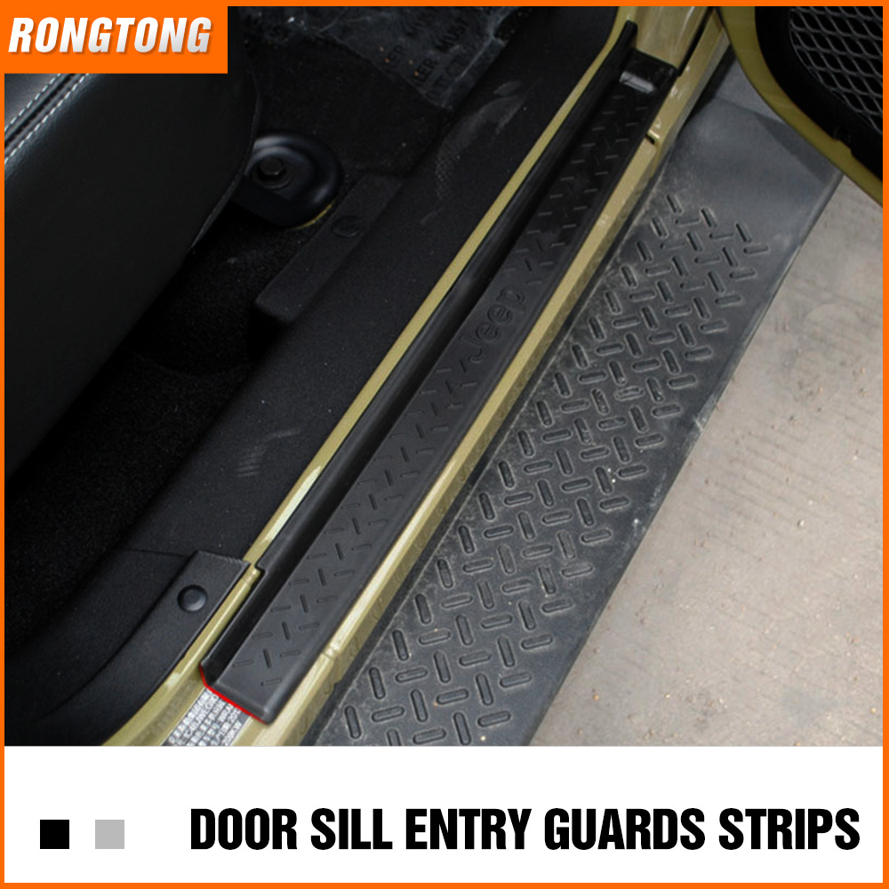Door Sill Entry Guards Protection Fits: Jeep Wrangler JK 07-16 and 2/4 Doors