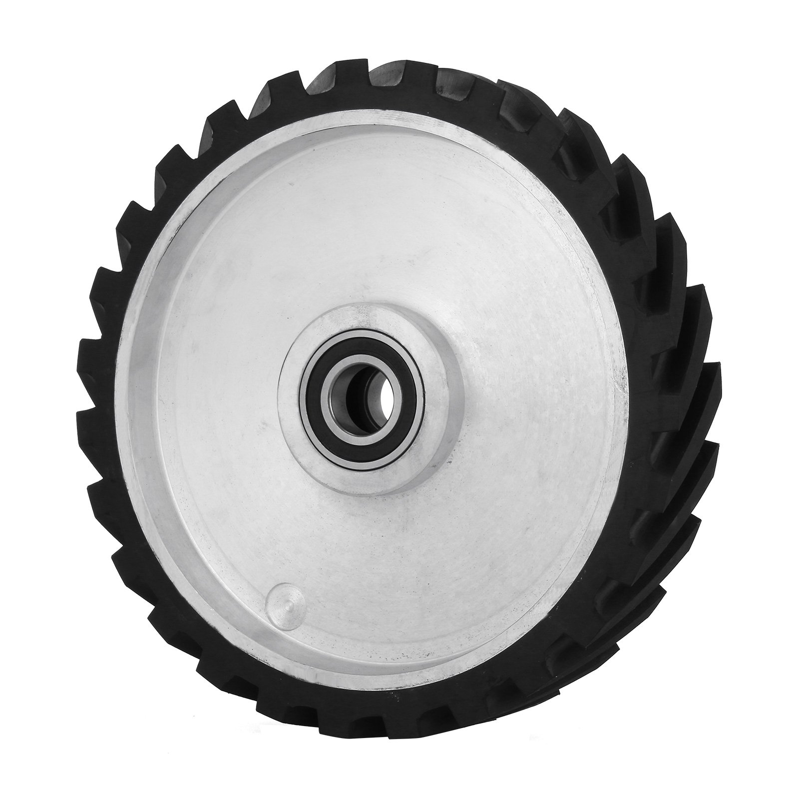 Silver Dynabrade 11203 5//8-Inch Diameter by 3//8-Inch Wide Contact Arm Assy Rubber Wheel with 1//2-Inch Wide Platen for 1//2-Inch Wide by 18-Inch Length Belts
