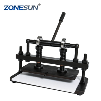 ZONESUN 3616cm Double Wheel Hand leather cutting machine for bag photo paper PVC/EVA sheet mold cutter leather Die cutting tool