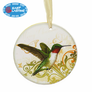 Gold decal hand drawing bird personalized Christmas ornament factory