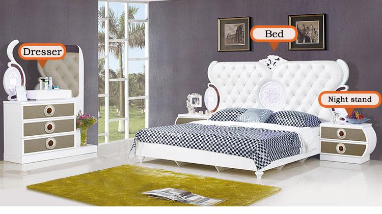 Camera Da Letto Bianco Lucido : King size letto in legno mdf stile francese bianco lucido moderno