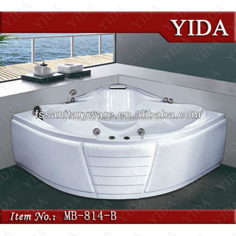 Elengent Design White Acrylic Bath Tub,Wash Tub Corner Triangle ...