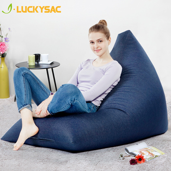 Cute Shape Modern Bean Bag Sofa Adjust To Body Single Confortable Micro