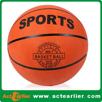 factory cheap custom design size 5 natural rubber basketball ball