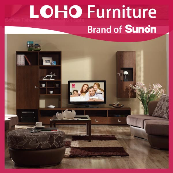Hot Sale Modern Design Home Furniture TV Unit Design for Hall with Showcase from LOHO Furniture