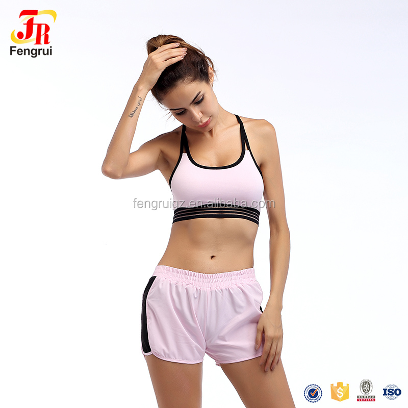 Womens Yoga Clothing Fitness Clothing Running Shorts & Bra Quick-Drying Loose Slimming Fitness Room Sports Suit Female Two-Piece