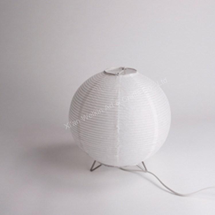 Clairage int rieur lampe de table riz papier lampe de for Lampe en papier de riz