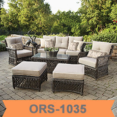 Semi Circle Patio Wicker Chairs With Sectional Arm Tables Rattan Garden  Treasures Outdoor Furniture